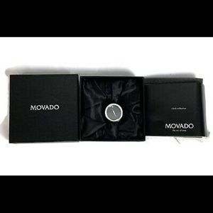 Movado Small Desk Clock Paperweight